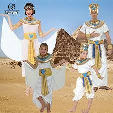 Egyptian Pharaoh Halloween Costume Aliexpress Buy Rolecos Brand Men Women Kids