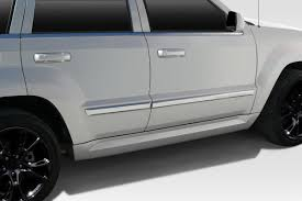 2005 grey jeep grand cherokee 05 10 jeep grand cherokee srt look duraflex side skirts body kit