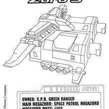 power ranger u0027s car coloring pages hellokids