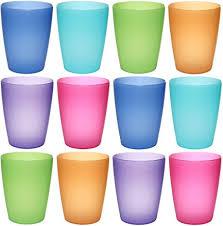 piatti e bicchieri di plastica colorati idea station neo bicchieri di plastica da 250 ml riutilizzabili