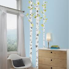 birch trees peel and stick wall decals free shipping on