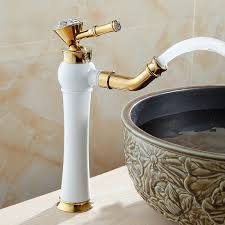 Modern Faucet Bathroom Basin Faucets Modern Gold Color Deck Mounted Bathroom Mixer