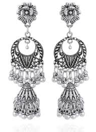 dangler earrings buy silver dangler earrings danglers online shopping tjjai20006