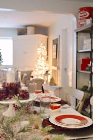 red dining rooms cottage farmhouse christmas dining room fox hollow cottage