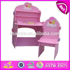 Cheap Childrens Desk And Chair Set Pink Kids Wooden Desk And Chair Wooden Toy Children