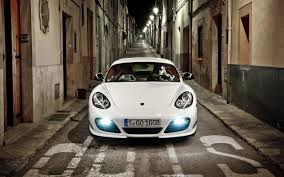 white porsche 911 1280x800 white porsche 911 at night desktop pc and mac wallpaper
