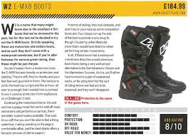 motocross boots review w2 e mx8 motocross boots white black