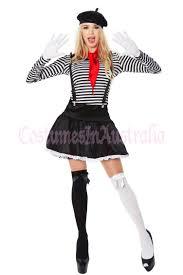ladies clown halloween costumes ladies mesmerizing mime costume french artist clown circus fancy