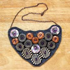 bib necklace designs images How to make a button necklace 22 tutorials guide patterns jpg