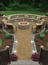 Circular Patio Seating Concrete Patio Benches Foter