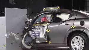 2012 dodge avenger safety rating 2012 crash test dodge avenger iihs small overlap test acceptable