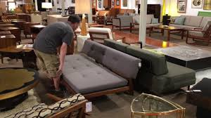 Mid Century Modern Convertible Sofa by Convertible Mid Century Modern Daybed Youtube