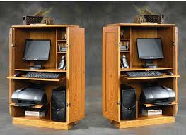 Computer Armoire Sauder Office Armoire Ideas Wooden Computer Armoire For Big Sized