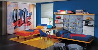 chambre ado originale design interieur originale chambre ado garçon bleu jaune chambre
