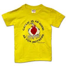 children s youth garlic t shirt les blank