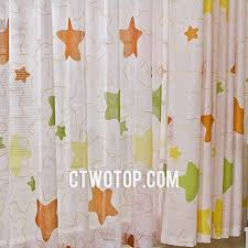 beautiful stars curtains for kids with flame retardant