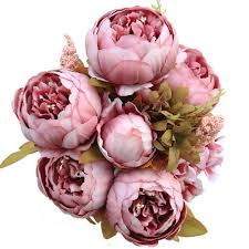 artificial peonies vintage artificial peony silk flowers bouquet home wedding