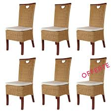 Chaise Salle A Manger Pas Chere by Lot Chaises En Rotin Chaise En Rotin Pas Cher Lot 6 Chaises