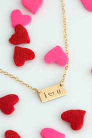 personalized valentines day necklace gift for her personalized