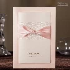 embossed wedding invitations cw3061 gorgeous pink embossed wedding invitations cards with bow
