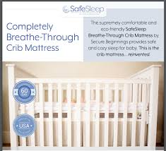 Crib Mattress Base Secure Beginnings Safesleep Breathe Through Crib Mattress Review