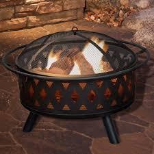 Firepit Wood Garden Crossweave Steel Wood Burning Pit Reviews Wayfair