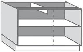 caisson de cuisine caisson bas blanc en mélaminé l 120 x l 85 x p 56 cm brico dépôt