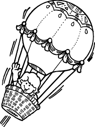 flying air balloon coloring page wecoloringpage