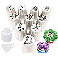 amazon com jjmg new russian icing piping tips christmas design
