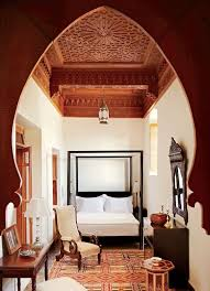 Moroccan Bedroom Design Exotic Moroccan Bedroom Design Using White Wall Paint Color With