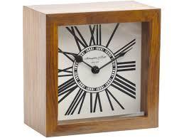 Wood Desk Clock Polished Wood Mantel Clock Square Wood Desk Clock Libra Mini