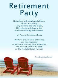 retirement invitation wording retirement party invitation wording ideas and sles wordings