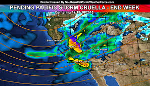 California Weather Map Pacific Storm Cruella Aims For Thursday Into Thursday Night For