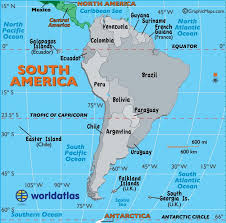 map of cities in south america map of south america including mexico major tourist