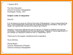 resignation letter email subject format