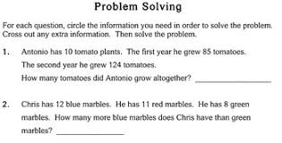 problems with extra info 2nd grade worksheets individualized math