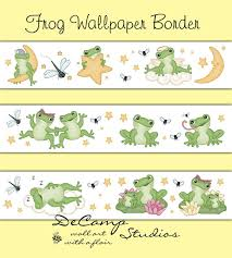 Frog Nursery Decor Frog Wallpaper Border Wall Decals For Baby Boy Or Nursery Or