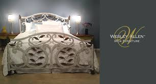 official wesley allen website featuring iron beds iron bed frames