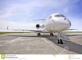 luxury private jets luxury private jet airplane side view bombardier global stock