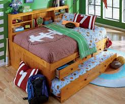 Full Size Trundle Bed Honey Full Size Bookcase Captain U0027s Day Bed With Trundle Day Beds