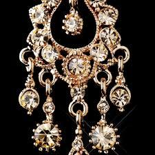 Rose Gold Chandelier Earrings Rose Gold Champagne Crystal Chandelier Earrings 1028