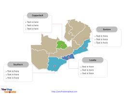 map of zambia free zambia editable map free powerpoint templates
