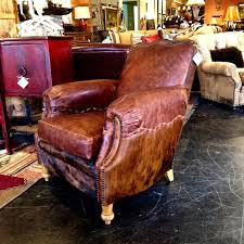Rustic Leather Armchair Rustic Leather Club Chair At Anteks Dallas Western Furniture