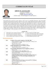 Civil Engineer Resume Template Qa Qc Engineer Resume Sample Free Resume Example And Writing