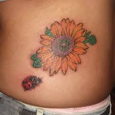 Ladybug And Flower Tattoos - 21 ladybug tattoo designs ideas design trends premium psd