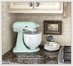 pistachio kitchenaid mixer french farmhouse kitchen from my front