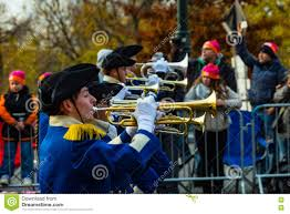 thanksgiving parade philadelphia anthony wayne marching generals trumpets editorial image image