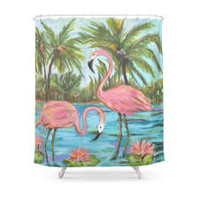 Flamingo Shower Curtains Best Pink Flamingos Shower Curtain Products On Wanelo