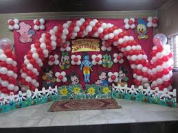 Decoration Birthday Party Home Balloon Decoration For Birthday Party At Home Home And House