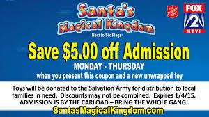 Six Flags Ad Margie U0027s Money Saver Save 5 At Santa U0027s Magical Kingdom With Toy
